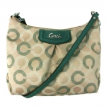 COACH ASHLEY DOTTED OP ART SWINGPACK # 48048 สี Silver/ Khaki/Aegean