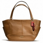 COACH PARK LEATHER CARRIE # 23284 สี Brass/British tan