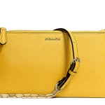 COACH KYLIE CROSSBODY IN SAFFIANO LEATHER # 50839 สี LIGHT GOLD/SUNGLOW