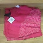 COACH SIGNATURE SCARVES # 85594 สีชมพู