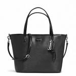 Coach Park Metro Leather Small Tote # 32462 สี SILVER/BLACK