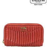 Coach Madison Gathered EW Universal Case Bag # 64998 สี Coral