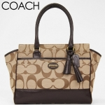 Coach Legacy Signature Canvas Medium Carryall # 21151 สี BKHMA