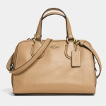 COACH MINI NOLITA SATCHEL IN LEATHER # 33735 สี Light Gold/Nude