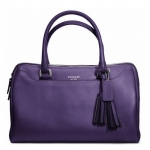 Coach  legacy perforated leather haley satchel #  23574 สี Silver / Marine (Blue Purple)