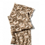 Coach Metallic OP Art Chain Oblong Scarf Wrap # 84032 สี Khaki