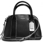 COACH BLEECKER MINI BLACK PRESTON EDGEPAINT LEATHER SATCHEL # 30344 สี BLACK WHITE