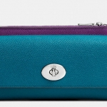 COACH SLIM ENVELOPE WALLET WITH POP-UP POUCH IN EMBOSSED TEXTURED LEATHER # 52345