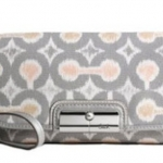 Coach Kristin Grey Multi Ikat Flap Top Large Wristlet # 45378