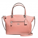 COACH PRAIRIE SATCHEL IN PEBBLE LEATHER # 34340 สี SILVER/PINK