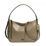 COACH MADISON TOP HANDLE IN LEATHER # 51900 สี OLIVE GRAY
