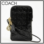 Coach Julia Universal Phone Case Wristlet Patent Leather # 61050 สี Black