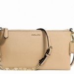 COACH KYLIE CROSSBODY IN SAFFIANO LEATHER # 50839 สี LIGHT GOLD /TAN