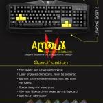 "USB Multi Keyboard ""NUBWO"" (NK-010) Black ( ไฟ 7 สี )"