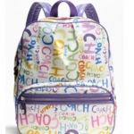 Coach Signature Stripe Multi Print Backpack #19417 สี Multi-Colour