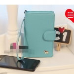 """""""พร้อมส่ง""""กระเป๋าใส่ iPhone แบบม้า -สีฟ้า"""