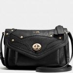 COACH RHYDER CROSSBODY IN PEBBLE LEATHER # 36050 สี BLACK