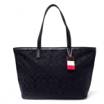 Coach legacy weekend signature c medium zip top tote  # 23465 สี SILVER / BLACK / BLACK