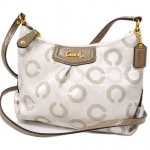 COACH ASHLEY DOTTED OP ART SWINGPACK # 48048 สี LIGHT KHAKI /TAUPE