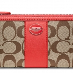 COACH LEGACY SIGNATURE SLIM ZIP # 48437 สี Khaki Carnelian