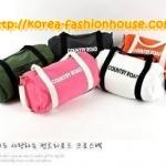 [พร้อมส่ง] [BB21]กระเป๋าผ้าแฟชั่นเกาหลี สะพายข้างหรือถือก้ได้ค่ะ  เหลือขาว ส้ม ชมพู 3สีค่ะ