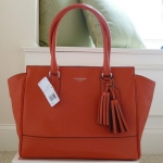 COACH LEGACY CANDACE CHAMBRAY LEATHER CARRYALL SATCHEL BAG # 24201 สี CORAL