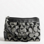 Coach Signature Pleated Medium Wristlet # 43434