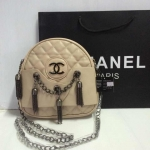 กระเป๋า Chanel มาใหม่ ห้อยตุ้งติ้งน่ารัก ขนาด 10 นิ้ว  สีครีม
