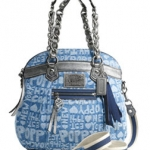 Coach Poppy Denim Wordblock Highlight #16690