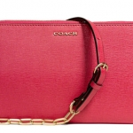 COACH KYLIE CROSSBODY IN SAFFIANO LEATHER # 50839 สี PINK SCARLET