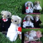 ตุ๊กตาถักไหมพรม คู่แต่งงานแบบตาม ORDER สั่งทำ