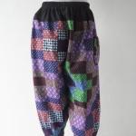 กางเกงผ้าไทยยางยืดขาจั๊ม