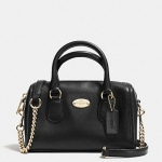 COACH BABY BENNETT SATCHEL IN CROSSGRAIN LEATHER # 34641 สี BLACK