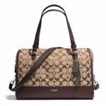 COACH PARK SIGNATURE KT TRIPLE ZIP SATCHEL # 31921