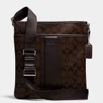 COACH HERITAGE SIGNATURE SMALL ZIP TOP CROSSBODY # 71131 สี MAHOGANY/BROWN