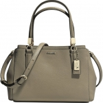 Coach Madison Saffiano Small Christie Satchel Crossbody # 30402 สี Olive Grey