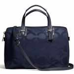 COACH TAYLOR OP ART SATEEN SATCHEL # 25503 สี Midnight Blue