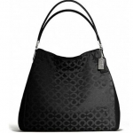 COACH MADISON PHOEBE SHOULDER BAG IN OP ART SATEEN FABRIC # 25637