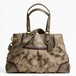 Coach ASHLEY SPECTATOR SIGNATURE CARRYALL # 17446