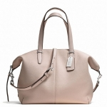 Coach Bleecker Cooper Satchel in Pebbled Leather # 27930 สี Silver/Grey Birch