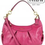 Coach Ashley Lether Convertible Hobo # 19761 สี Magenta