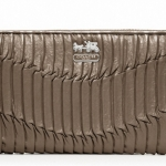 Coach madison gathered leather accordion wallet # 46481 สี Bronze