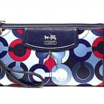 COACH MADISON GRAPHIC OP ART ZIPPY WALLET # 48550 สี Blue Multi