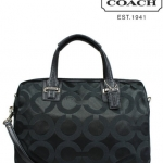 COACH TAYLOR OP ART SATEEN SATCHEL # 25503 สี Black