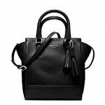 COACH LEGACY LEATHER MINI TANNER # 48894 สี SILVER / BLACK