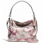 COACH SIGNATURE C HIPPIE HOBO SHOULDER CROSSBODY BAG # 31143E สี SV/Neutral Multi