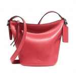 Coach Bleecker Mini Duffle Bag in Glove Tanned Leather # 32281 สี Loganberry