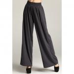 กางเกงขายาวหลวมกว้าง เอวยางยืด สีเทา/สีดำ XL 2XL 3XL 4XL