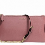 COACH KYLIE CROSSBODY IN SAFFIANO LEATHER # 50839 สี LIGHT GOLD/ROUGE