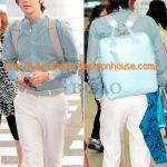 [พร้อมส่ง] กระเป๋าเป้ L'inoui แบบ จางกึนซอก 장근석 สีฟ้า พร้อมสายสะพายสองเส้นค่ะ